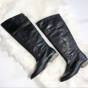 Coach Nancye Tall Black Leather Boot Size 8 1/2